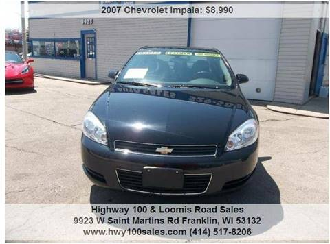 2007 Chevrolet Impala for sale at Highway 100 & Loomis Road Sales in Franklin WI