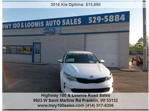 2016 Kia Optima for sale at Highway 100 & Loomis Road Sales in Franklin WI