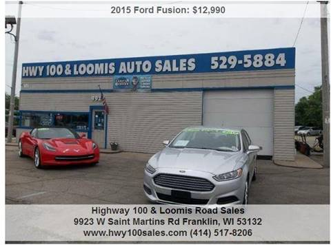 2015 Ford Fusion for sale at Highway 100 & Loomis Road Sales in Franklin WI