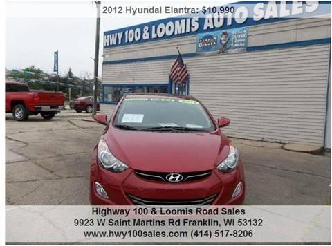 2012 Hyundai Elantra for sale at Highway 100 & Loomis Road Sales in Franklin WI
