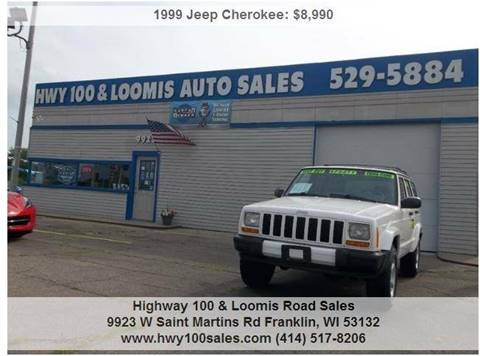 1999 Jeep Cherokee for sale at Highway 100 & Loomis Road Sales in Franklin WI