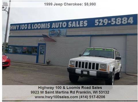 1999 Jeep Cherokee for sale at Highway 100 & Loomis Road Sales in Franklin WI