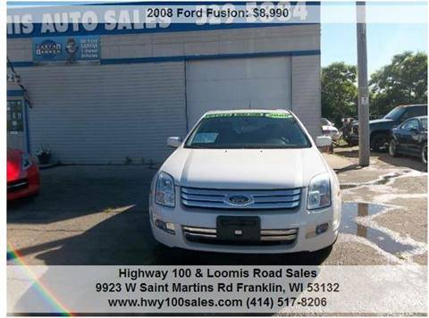 2008 Ford Fusion for sale at Highway 100 & Loomis Road Sales in Franklin WI