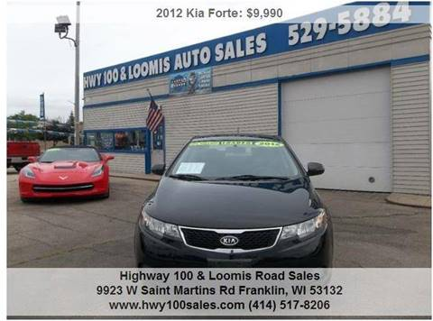 2012 Kia Forte for sale at Highway 100 & Loomis Road Sales in Franklin WI