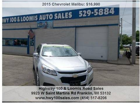 2015 Chevrolet Malibu for sale at Highway 100 & Loomis Road Sales in Franklin WI