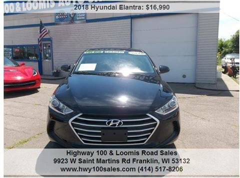 2018 Hyundai Elantra for sale at Highway 100 & Loomis Road Sales in Franklin WI