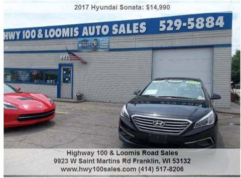 2017 Hyundai Sonata for sale at Highway 100 & Loomis Road Sales in Franklin WI