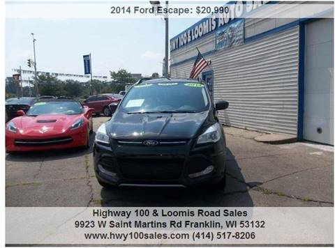 2014 Ford Escape for sale at Highway 100 & Loomis Road Sales in Franklin WI