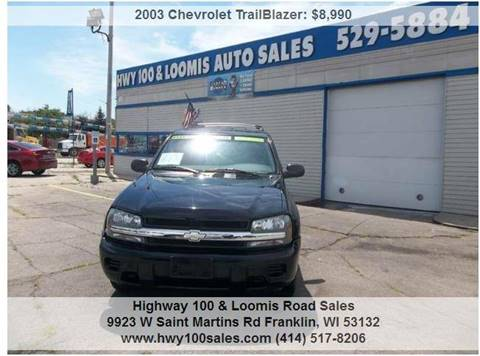 2003 Chevrolet TrailBlazer for sale at Highway 100 & Loomis Road Sales in Franklin WI