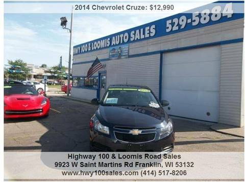 2014 Chevrolet Cruze for sale at Highway 100 & Loomis Road Sales in Franklin WI
