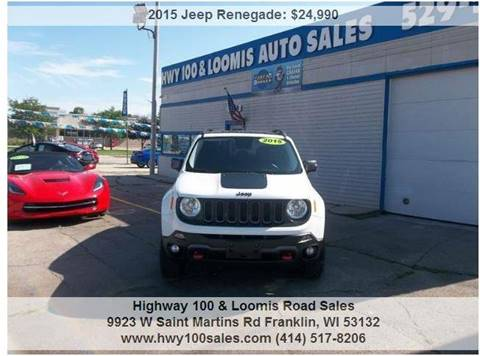 2015 Jeep Renegade for sale at Highway 100 & Loomis Road Sales in Franklin WI