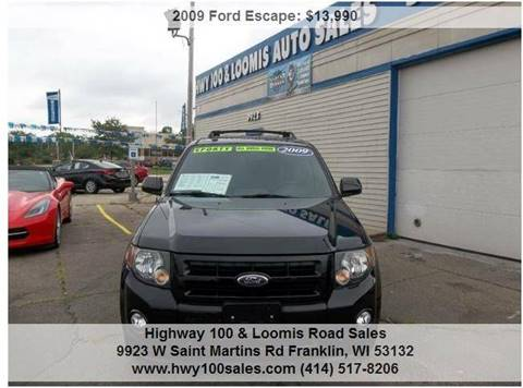 2009 Ford Escape for sale at Highway 100 & Loomis Road Sales in Franklin WI