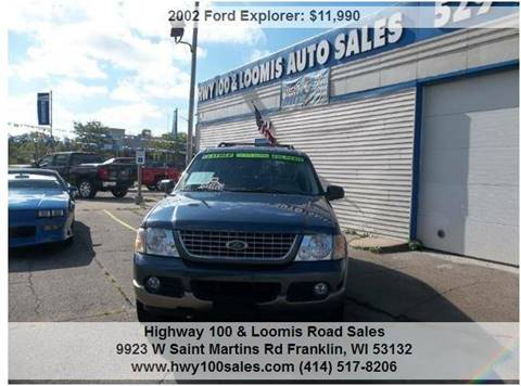 2002 Ford Explorer for sale at Highway 100 & Loomis Road Sales in Franklin WI