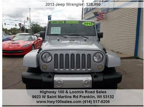 2013 Jeep Wrangler for sale at Highway 100 & Loomis Road Sales in Franklin WI