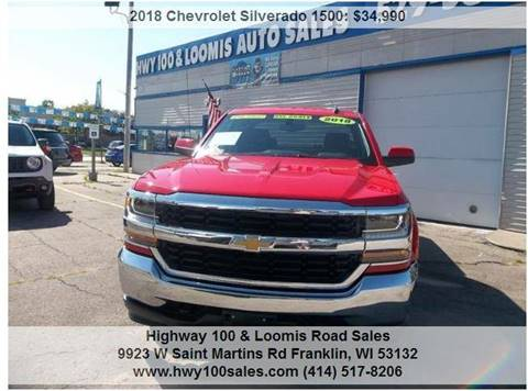 2018 Chevrolet Silverado 1500 for sale at Highway 100 & Loomis Road Sales in Franklin WI