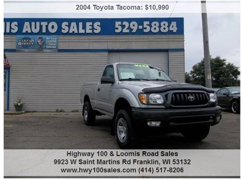 2004 Toyota Tacoma for sale at Highway 100 & Loomis Road Sales in Franklin WI