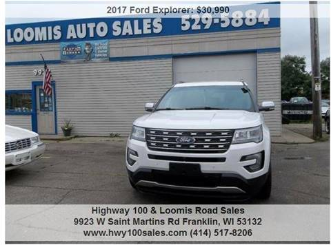 2017 Ford Explorer for sale at Highway 100 & Loomis Road Sales in Franklin WI