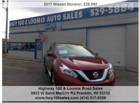 2017 Nissan Murano for sale at Highway 100 & Loomis Road Sales in Franklin WI