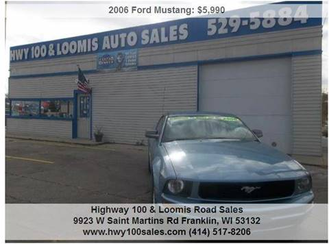 2006 Ford Mustang for sale at Highway 100 & Loomis Road Sales in Franklin WI