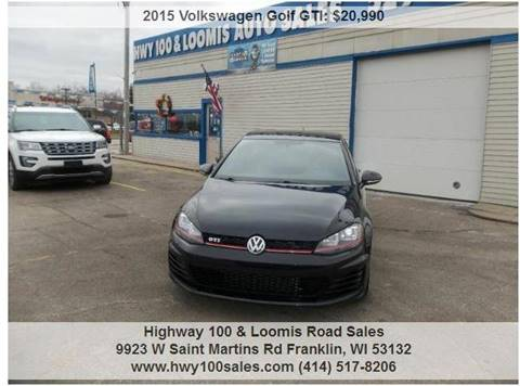2015 Volkswagen Golf GTI for sale at Highway 100 & Loomis Road Sales in Franklin WI