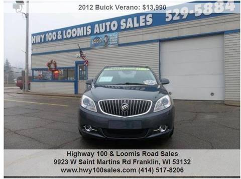 2012 Buick Verano for sale at Highway 100 & Loomis Road Sales in Franklin WI
