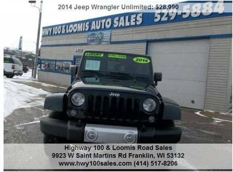 2014 Jeep Wrangler Unlimited for sale at Highway 100 & Loomis Road Sales in Franklin WI