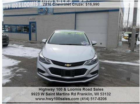 2018 Chevrolet Cruze for sale at Highway 100 & Loomis Road Sales in Franklin WI