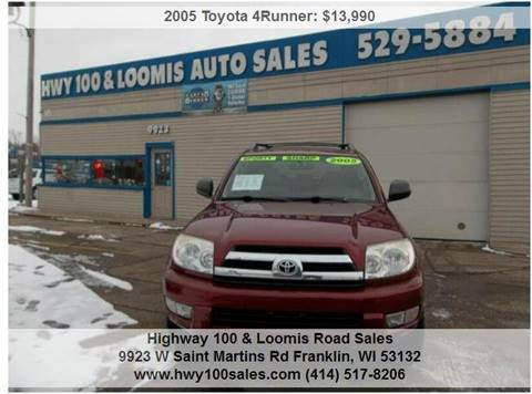 2005 Toyota 4Runner for sale at Highway 100 & Loomis Road Sales in Franklin WI