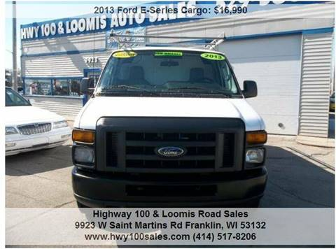 2013 Ford E-Series Cargo for sale at Highway 100 & Loomis Road Sales in Franklin WI