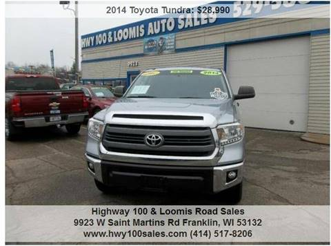 2014 Toyota Tundra for sale at Highway 100 & Loomis Road Sales in Franklin WI