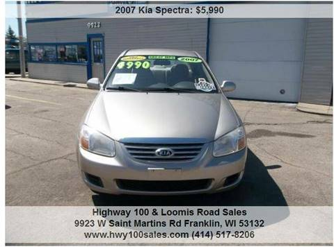 2007 Kia Spectra for sale at Highway 100 & Loomis Road Sales in Franklin WI