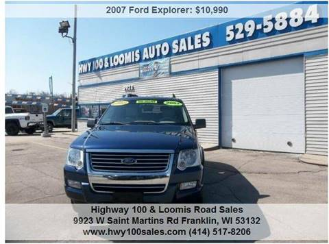 2007 Ford Explorer for sale at Highway 100 & Loomis Road Sales in Franklin WI