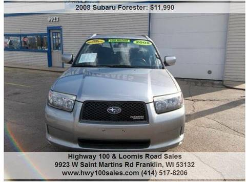 2008 Subaru Forester for sale at Highway 100 & Loomis Road Sales in Franklin WI