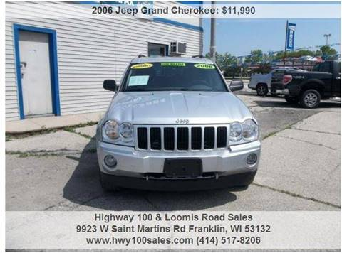 2006 Jeep Grand Cherokee for sale at Highway 100 & Loomis Road Sales in Franklin WI