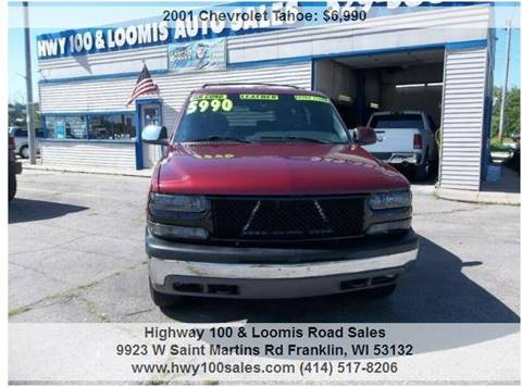 2001 Chevrolet Tahoe for sale at Highway 100 & Loomis Road Sales in Franklin WI