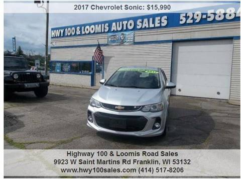 2017 Chevrolet Sonic for sale at Highway 100 & Loomis Road Sales in Franklin WI