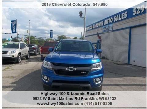 2019 Chevrolet Colorado for sale at Highway 100 & Loomis Road Sales in Franklin WI
