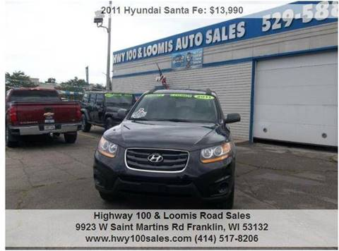 2011 Hyundai Santa Fe for sale at Highway 100 & Loomis Road Sales in Franklin WI
