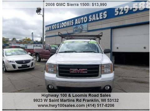 2008 GMC Sierra 1500 for sale at Highway 100 & Loomis Road Sales in Franklin WI