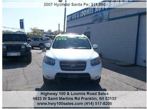 2007 Hyundai Santa Fe for sale at Highway 100 & Loomis Road Sales in Franklin WI