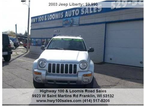 2003 Jeep Liberty for sale at Highway 100 & Loomis Road Sales in Franklin WI