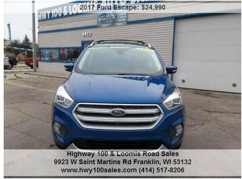 2017 Ford Escape for sale at Highway 100 & Loomis Road Sales in Franklin WI