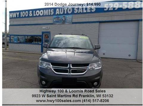 2014 Dodge Journey for sale at Highway 100 & Loomis Road Sales in Franklin WI