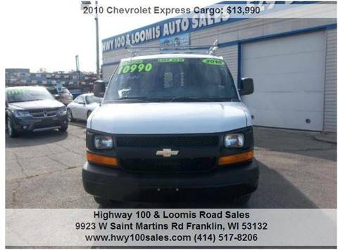 2010 Chevrolet Express Cargo for sale at Highway 100 & Loomis Road Sales in Franklin WI