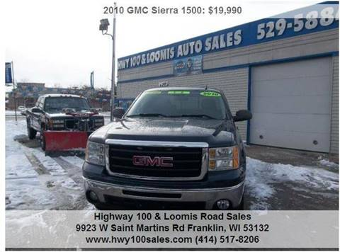 2010 GMC Sierra 1500 for sale at Highway 100 & Loomis Road Sales in Franklin WI