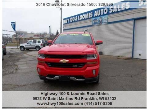 2016 Chevrolet Silverado 1500 for sale at Highway 100 & Loomis Road Sales in Franklin WI