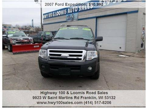 2007 Ford Expedition for sale at Highway 100 & Loomis Road Sales in Franklin WI