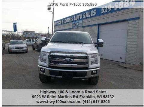 2016 Ford F-150 for sale at Highway 100 & Loomis Road Sales in Franklin WI