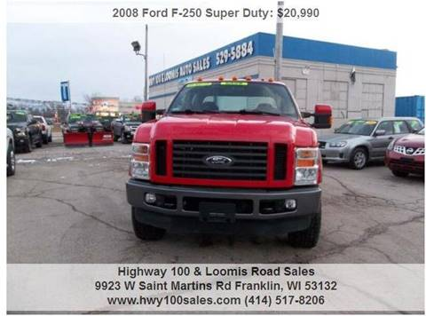 2008 Ford F-250 Super Duty for sale at Highway 100 & Loomis Road Sales in Franklin WI
