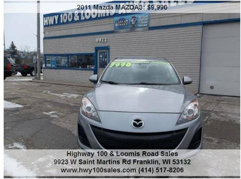 2011 Mazda MAZDA3 for sale at Highway 100 & Loomis Road Sales in Franklin WI